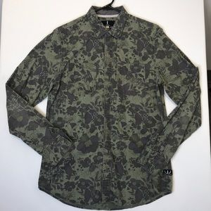 I Jeans By Buffalo Men's Olive Green Button shirt
